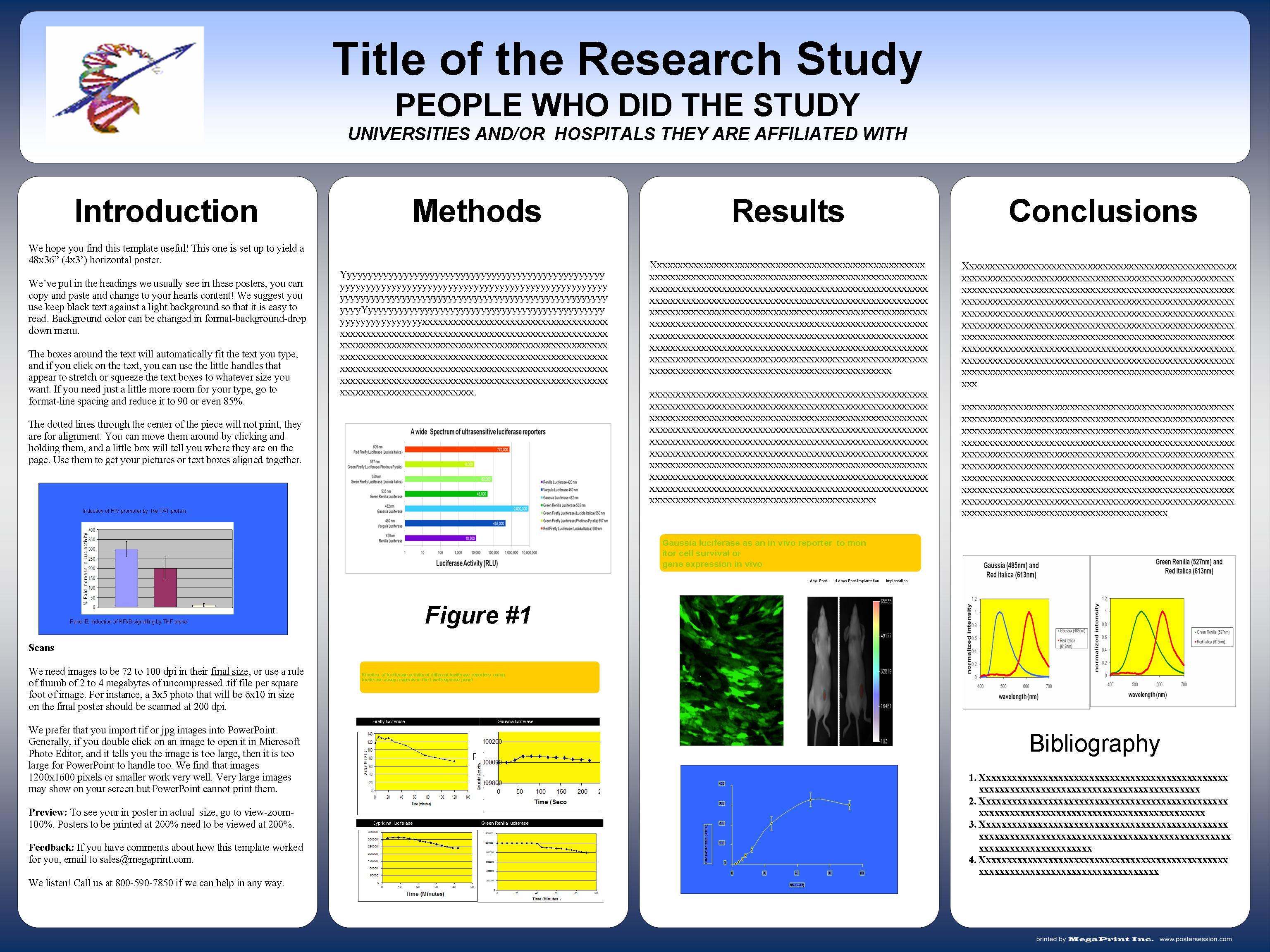 Scientific poster template microsoft