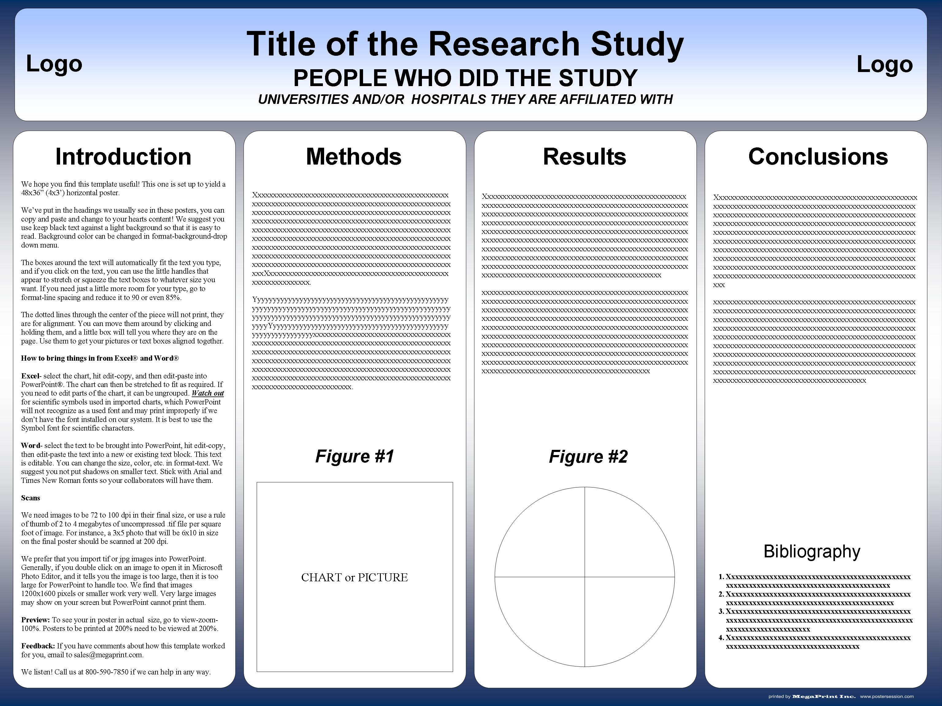 Research poster templates postersession for Informative poster template