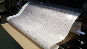 research poster printed with gloss paper