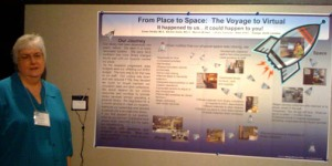 research poster printed on cloth