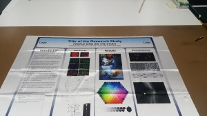 research poster printed on fabric